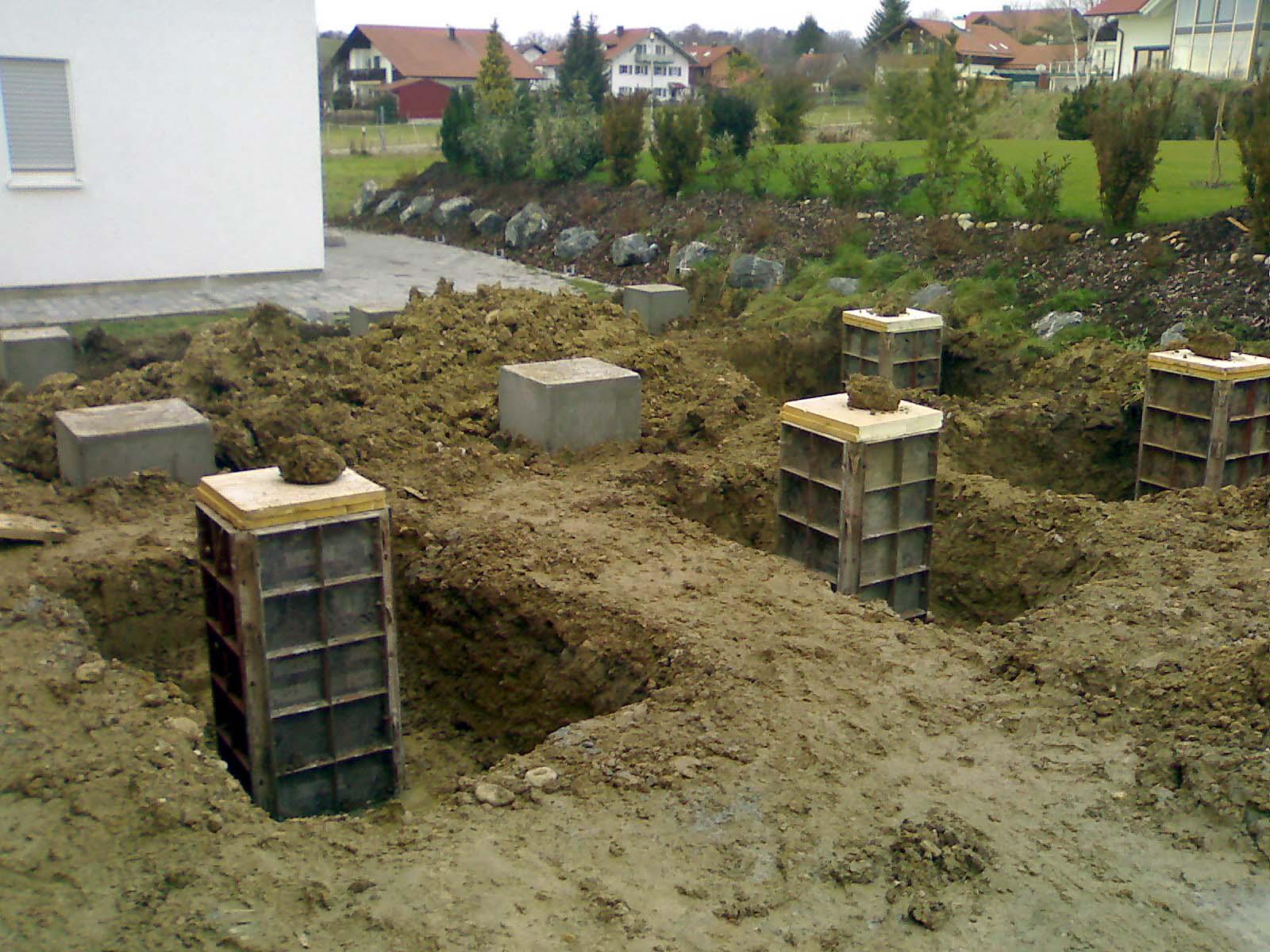 Baublog 2007 dezember - Punktfundament terrasse ...